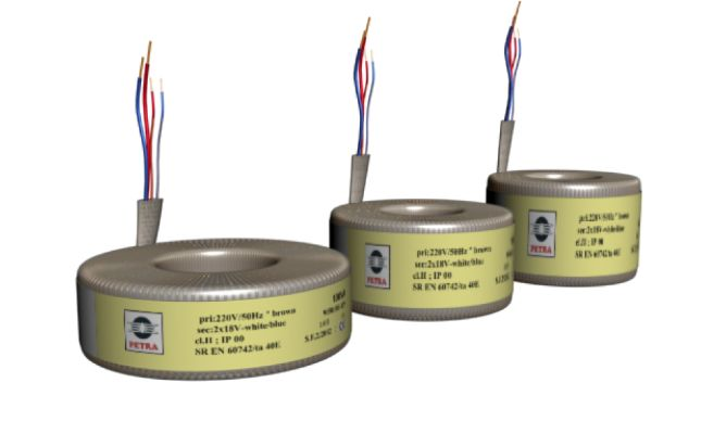 Mono-phase toroidal transformers Safety isolating transformers Standard profile